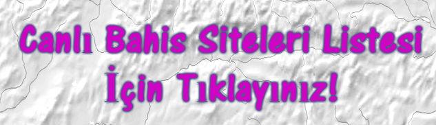 Canlı Bahis Siteleri İsimleri